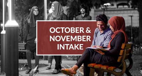 Now Accepting Applications for October and November 2018 Intakes