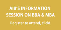 Register to visit AIB Information Session