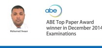 Mohamed Ilwan wins the ABE Top Paper Award