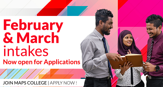 Join MAPS College throughout the year: February and March intakes now open for applications